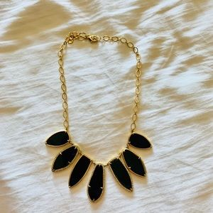 Stella & Dot Allegria Black Gold Necklace